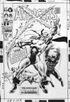BUSCEMA, JOHN P/I - Avengers #52 large Cover, 1st Grim Reaper, 1st Black Panther - joins Avengers Comic Art