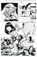BUSCEMA, JOHN - Amazing Spiderman Annual 1999 pg 22, Spidey rescues Betty Brant, then both witness all-out battle between the Green Folk and the Knights! Comic Art