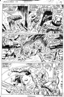 BUSCEMA, JOHN - Astonishing Tales #13 pg 13, Kazar & Zabu fight AIM Comic Art