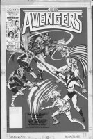 BUSCEMA, JOHN - Avengers #271 cover, Team charges villains head-on Comic Art