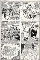 BUSCEMA, JOHN - The Avengers #85 pg 4, great page with all the Avengers, Black Panther and rare appearance of the Amazing Spider-Man Comic Art