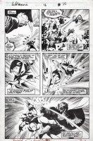 BUSCEMA, JOHN / BILL SIENKIEWICZ - Wolverine #16 pg 25, Wolverine battles Ba'al! Comic Art