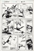 BUSCEMA, JOHN / BILL SIENKIEWICZ - Wolverine #14 pg 29, Wolvie & Jessica Drew attacked by Vampire 1989 Comic Art