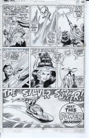 BUSCEMA, JOHN - Thor #192 pg 28, incredible splash panel of the Silver Surfer with full logo. Surfer's only appearance in this issue promoting him in the next issue, Thor #193 Comic Art