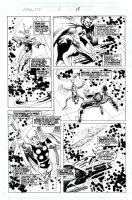 BUSCEMA, JOHN - Galactus the Devourer #6 pg 15, The Avengers, Fantastic Four and Imperial Guard place weapons to battle Galactus Comic Art