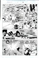 BUSCEMA, JOHN - Galactus the Devourer #6 pg 21, All the Marvel superheroes and The Shi'ar use all their powers to kill Galactus Comic Art