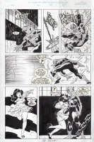 BUSCEMA, JOHN - Amazing Spiderman Annual 1999 pg 5, Spidey in action with Betty Brant! Comic Art