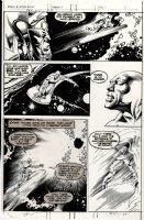 BUSCEMA, JOHN / RUDY NEBRES - Marvel Epic Illustrated Mag #1 pg 4-panel 4, Silver Surfer 1980 Comic Art