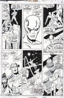 BUSCEMA, JOHN - Thor #193 pg 5, Silver Surfer rides to save Thor, Balder & Karnilla Comic Art