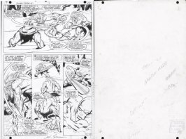BUSCEMA, JOHN / JOE SINNOTT / STAN LEE - Silver Surfer #1 pg 12, Surfer origin & battles, Stan's notes on back Comic Art