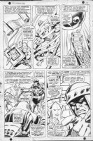 BUSCEMA, JOHN - Avengers #54 pg 7, 1st Ultron app. as Crimson Cowl, Iron Man, Black Knight & Masters of Evil Comic Art
