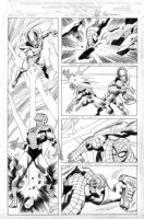 BUSCEMA, JOHN - Amazing Spiderman Annual 1999 pg 36, big pane l- Spidey & Miracle Man Comic Art