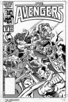 BUSCEMA, JOHN - Avengers #283 cover, Captain America, Thor, Sub-Mariner, She-Hulk & Black Knight vs army of deadly female asassins Comic Art