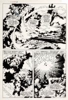 BUSCEMA, JOHN - Sub-Mariner #3 pg 17, Subby & Inhuman Triton stop monster 1968 Comic Art