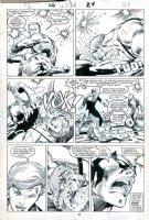 WINDSOR-SMITH, BARRY - Daredevil #236 pg 24, DD & Black Widow fight villain Comic Art