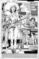 WINDSOR-SMITH, BARRY - Uncanny X-Men #214 pg 1 splash, 1st Lila Cheney in X-Men & undercover Dazzler Comic Art