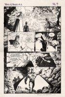 WRIGHTSON, BERNI - Batman / Aliens #2 large pg 9, Bats in cave 1997 Comic Art