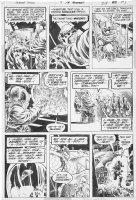 WRIGHTSON, BERNI / JEFF JONES ink help - Swampthing #9 pg 19 - Swampy & space alien Comic Art