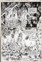 WRIGHTSON, BERNI - Swamp Thing #8 semi-splash, ST in all panels, full & 2 inserts, HP Lovecraft inspired Comic Art