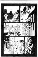 WRIGHTSON, BERNI - Punisher #2 pg 22, Punisher,  torching badguy Comic Art