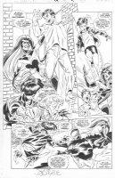 BYRNE, JOHN - Amazing Spider-Man #13 pg 20, New Spider-Woman vs Villain Spider-Woman Comic Art