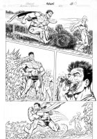 BYRNE, JOHN - Action #831 pg 13, Bizarro, Reverse Flash Comic Art