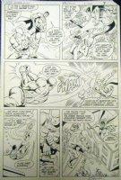 SAVIUK, ALEX - Action #560 pg 6- Superman, Parasite; Ambush Bug issue Comic Art