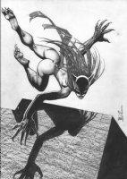 BISLEY, SIMON - Hell-Cat b&w tonal painting, cover? Comic Art
