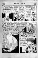 BORING, WAYNE / STAN KAYE - Action Comics #199 pg 10, Superman, Clark changes, Lex Lois Jimmy, NY city 1954 Comic Art
