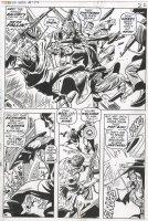COLAN, GENE - Captain America #134 pg 17 half splash - Cap & early Falcon battle on Comic Art