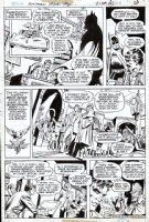 CHAN, ERNIE - Batman #278 pg 20, Batmoble, Bicentennial story 1976 Comic Art