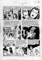 CRAIG, JOHNNY - Vault of Horror #26 pg 4, Horror Host + Vampire & Ghoul Comic Art