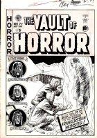 CRAIG, JOHNNY - Vault of Horror #22 EC cover, Frankenstein's monster  Comic Art