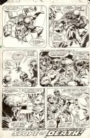 ELIAS, LEE / FRANK SPRINGER - Human Fly #12 last pg, Fly in acton 1978 Comic Art