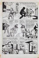 SIMON, JOE - re-inks JACK KIRBY FA #5 1954 story art - Fighting America #2 1966 pg 2, Invisible Irving Comic Art