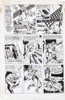 SIMON, JOE - re-inks JACK KIRBY FA #5 1954 story art - Fighting America #2 1966 pg 5, Invisible Irving Comic Art