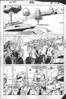VOSBURG, MIKE - Larry Hama & Marvel's G.I. Joe #22 pg 19,  Joes & Cover Girl at Flagg's funeral  first appearances- 1st appearance Duke & Roadblock, Cobra jet -Rattler, 1984 Comic Art