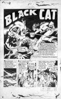 KUBERT, JOE - Speed #37 Black Cat splash, Jungle story, 1945 Comic Art