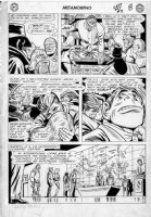 FRADON, RAMONA signed / CHARLES PARIS - Metamorpho #2 page, whole cast Comic Art
