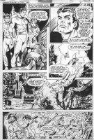 NEWTON, DON / KURT SCHAFFENBERGER - Shazam #36 pg 16 - all Marvel Family- Capt, Jr and Mary battle King Kull Comic Art