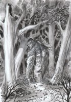 POWELL, ERIC - Swampthing #29 cover, Swampy and the swamp, detail Comic Art