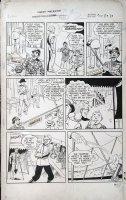 WARD, BILL - Master Comics #118 pg 3,  Freddy Freeman, Sivana Jr, Rubberface (first appearance) villains 1950 Comic Art