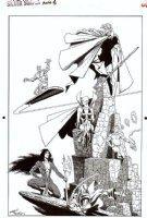 STARLIN, JIM / TERRY AUSTIN - Silver Surfer Annual Pinup, Surfer, Warlock, Drax, Gamora +   Comic Art