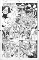 SAVIUK, ALEX - Web of Spiderman #102 splashy page, Mary Jane dancing, Peter Parker Comic Art