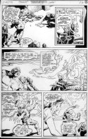 REDONDO, NESTOR - Swampthing #18 pg, ST and Abby vs cult Comic Art