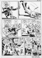 EISNER - Spirit 1940s page, Spirit as cop, & war orphan Hildie Comic Art