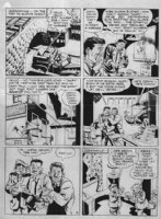 EISNER - Spirit 1946 Sunday page, Spirit beats crocks , Ebony Comic Art