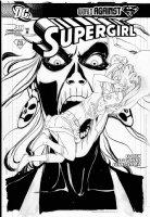 MIDDLETON, JOSH - Supergirl #48 cover, Supergirl and Silver Banshee Comic Art