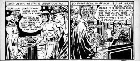 TOTH, ALEX - Green Lantern #39/40s  1/3 page 1949  Comic Art