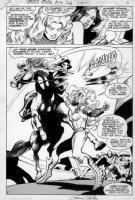 COLAN, GENE  - Wonder Woman #293 Splash - Titans: Wondergirl, Starfire Comic Art